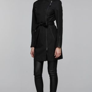 ESTELA belted trench coat with inner bib